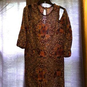 Floral Cold-shoulder sheath dress by Xhilaration